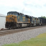 Thomas Bryan - Slaughters, Ky. CSX Q688 leaves Slaughters after meeting Q595.
