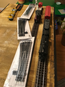 Left: Your editor's and son's module is not nearly as far along. We'll be incorporating a couple of operating Lionel accessories on a siding. Two modules are required.